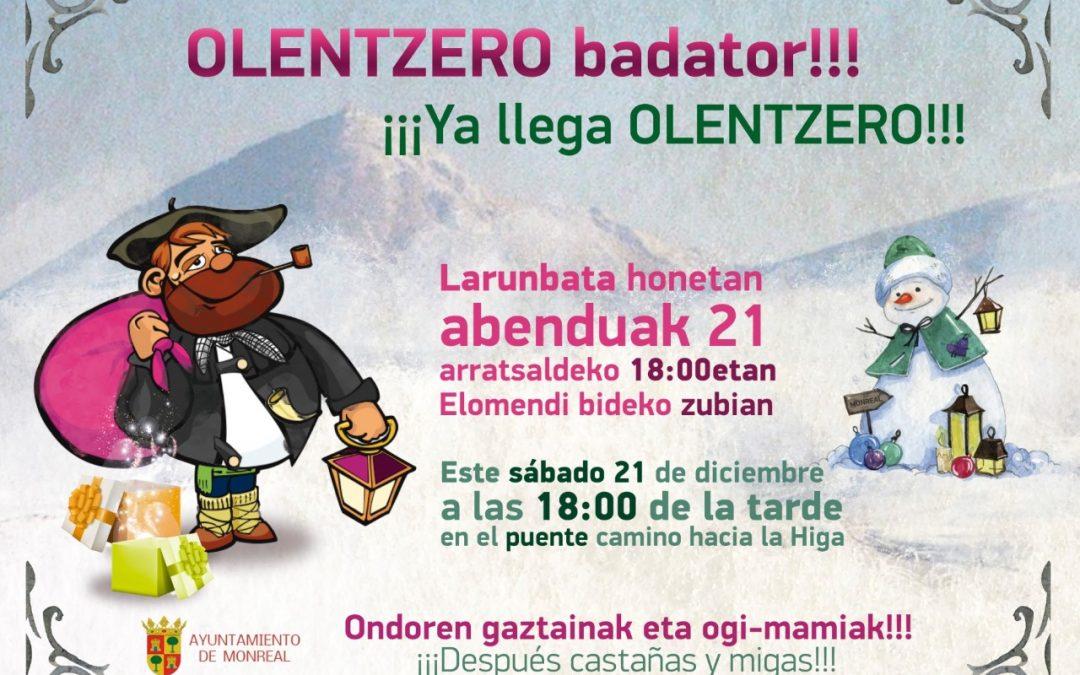 Olentzero badator!!! / ¡¡¡Ya llega el Olentzero!!!