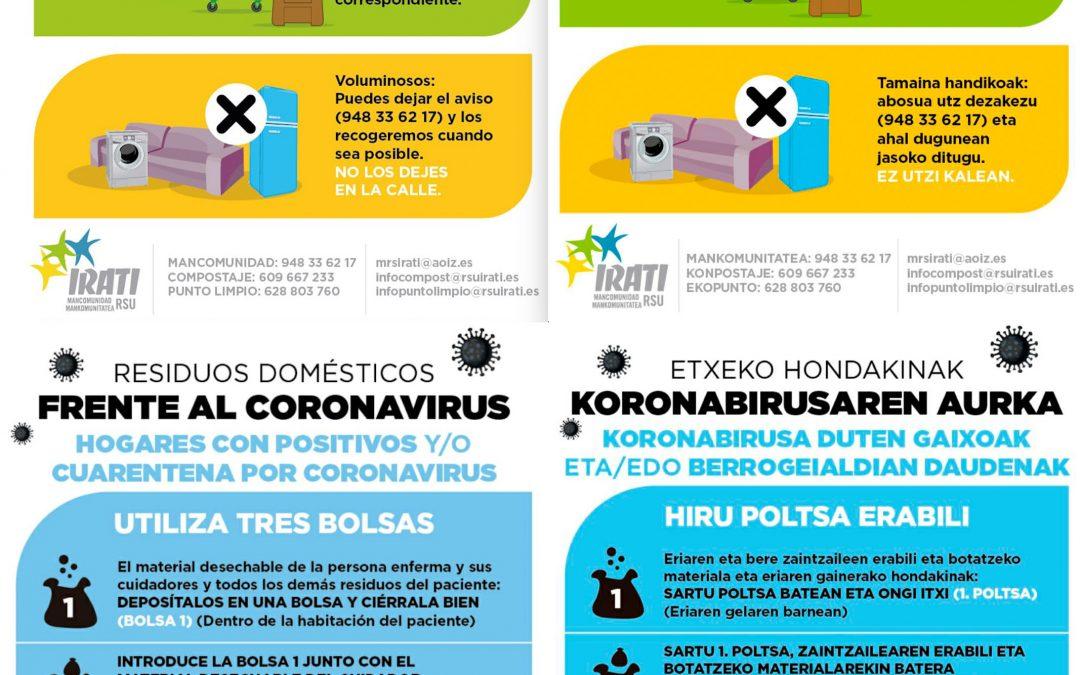 Residuos domésticos frente al coronavirus. Etxeko hondakinak koronabirusaren aurka