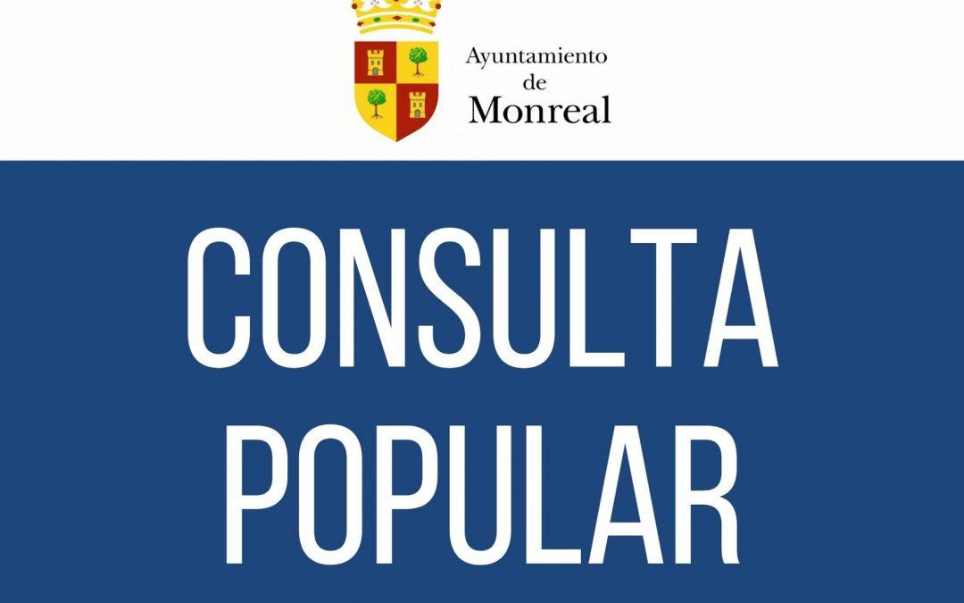 CONSULTA POPULAR SOBRE ELABORACIÓN DE ORDENANZA REGULADORA DEL TRÁFICO EN EL CASCO URBANO DE MONREAL